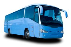 Blauer Reisebus Lizenzfreie Stockfotos