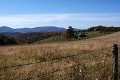 Blauer Ridge-Bauernhof Stockfoto