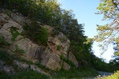 Blauer Ridge Mountain Rocks Stockbild