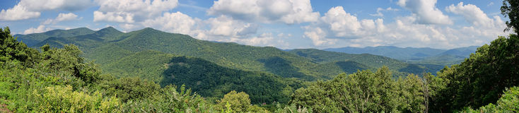 Blauer Ridge Mountains Panorama Stockfoto