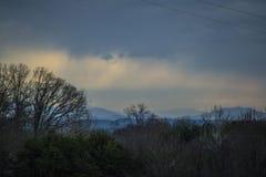 Blauer Ridge Mountains vor einem Sturm Stockbild