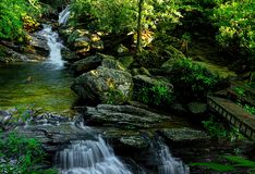Blauer Ridge Parkway Skinny Dip Falls stockfotografie