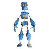 Blauer Roboter. 4 Stockbilder