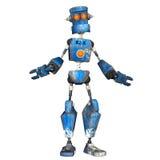 Blauer Roboter. 5 Lizenzfreie Stockbilder