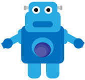 Blauer Roboter Stock Abbildung