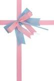 Blauer rosafarbener Bogen Stockbilder
