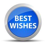 Blauer runder Knopf der besten Wünsche vektor abbildung