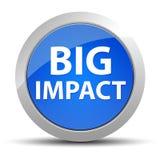 Blauer runder Knopf der großen Auswirkung lizenzfreie abbildung