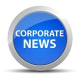 Blauer runder Knopf der Unternehmensnachrichten lizenzfreie abbildung