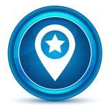 Blauer runder Knopf des Kartenzeigersternikonen-Augapfels lizenzfreie abbildung