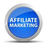 Blauer runder Knopf des Teilnehmer-Marketings stock abbildung