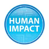 Blauer runder mit Blumenknopf der menschlichen Auswirkung stock abbildung