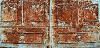 Blauer Rusty Metal Texture Background stockfotos