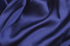 Blauer Satin Stockbild