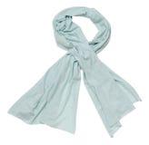 Blauer Schal auf weißem Hintergrund Lizenzfreies Stockbild