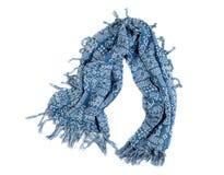 Blauer Schal mit Franse Stockbild