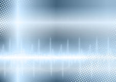 Blauer Schallwellehintergrund Lizenzfreie Stockfotos