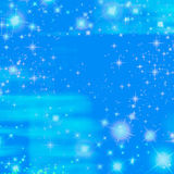 Blauer Schein-Himmeltwinkle-Ozean Stockfotografie