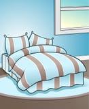 Blauer Schlafzimmer-Hintergrund Lizenzfreies Stockbild