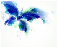 blauer Schmetterling lizenzfreie abbildung