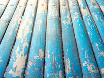 Blauer Schmutz gemalter hölzerner Hintergrund Lizenzfreie Stockfotografie