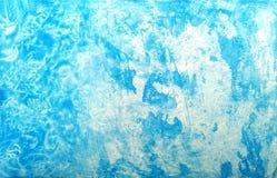 Blauer Schmutzbeschaffenheits-Aquarellhintergrund Künstlerische Farbe Watercolourflecke stockfoto