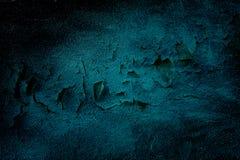 Blauer Schmutzwandton-Beschaffenheitshintergrund Stockfotografie