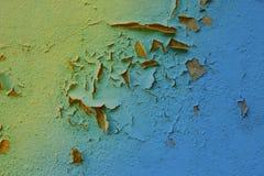 Blauer Schmutzwandton-Beschaffenheitshintergrund Stockfotos