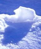 Blauer Schnee Stockbild