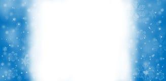 Blauer Schneeflocke-Rand Lizenzfreie Stockbilder
