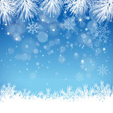 Blauer Schneeflocken-Hintergrund - Illustration Stockbild