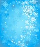 Blauer Schneehintergrund Lizenzfreies Stockbild