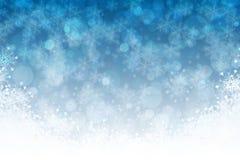 Blauer Schneehintergrund Lizenzfreie Stockfotografie