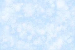 Blauer Schneehintergrund Stockfoto