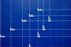 Blauer Schreibtischhintergrund Lizenzfreies Stockfoto