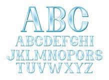 Blauer Schrifttyp Stockfoto