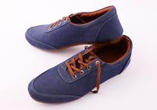 Blauer Schuh stockfoto