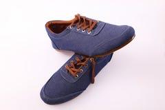 Blauer Schuh stockfotos
