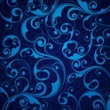 Blauer scrollwork Hintergrund Stockfoto