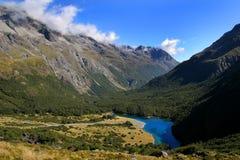 Blauer See im Nelson See-Nationalpark, neues Zeala stockfoto