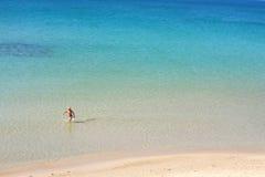 Blauer Seehintergrund Lizenzfreie Stockfotografie