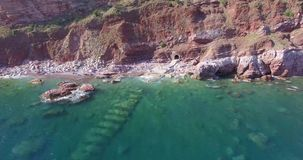 Blauer Seevon der luftverschluß stock video footage