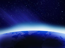Blauer Sonnenaufgang Lizenzfreie Stockfotos