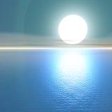 Blauer Sonnenuntergang. Lizenzfreie Stockfotografie