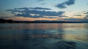 Blauer Sonnenuntergang Lizenzfreies Stockfoto
