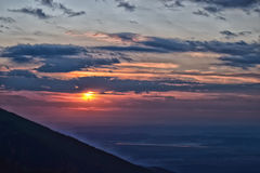 Blauer Sonnenuntergang lizenzfreie stockfotos