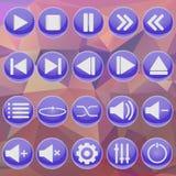 Blauer Spieler auf abstraktem Hintergrund Stockfotografie
