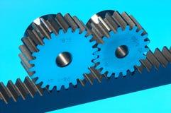 Blauer Stahl Stockfoto