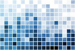 Blauer stark vereinfachter und Minimalist-Auszug Stockbild