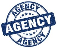 blauer Stempel der Agentur stock abbildung